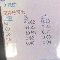 出售镍铜物料  镍46.62 铜 41.82